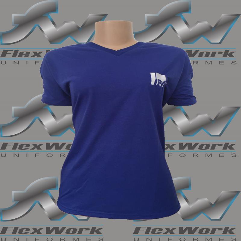 Uniforme feminino gola v