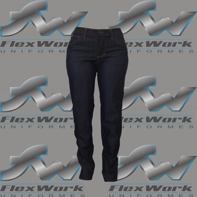 Calça jeans para uniforme feminino
