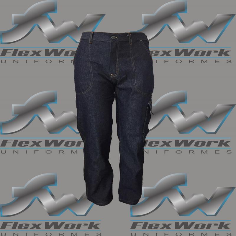 Calça jeans uniforme masculino