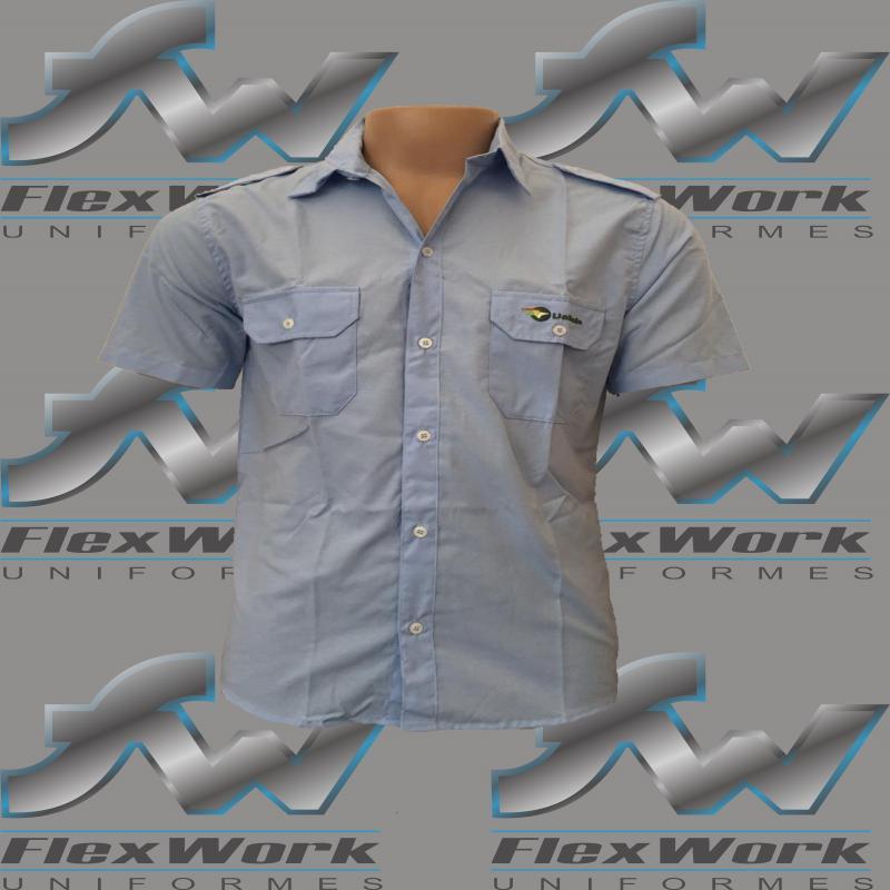 Camisa social para uniforme masculino